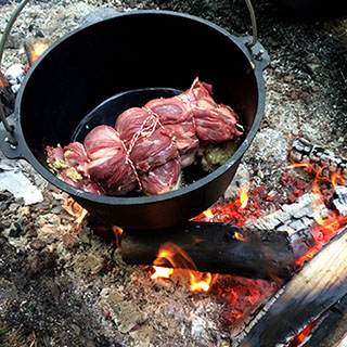 All our cooking is done over wood and fires. Learn how to survive in the woods.